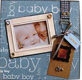 Personalised Baby boy photo frame-2