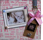 Personalised Baby girl photo frame-2